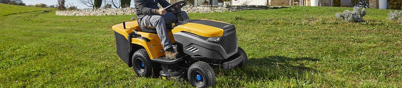 Battery garden tractors
