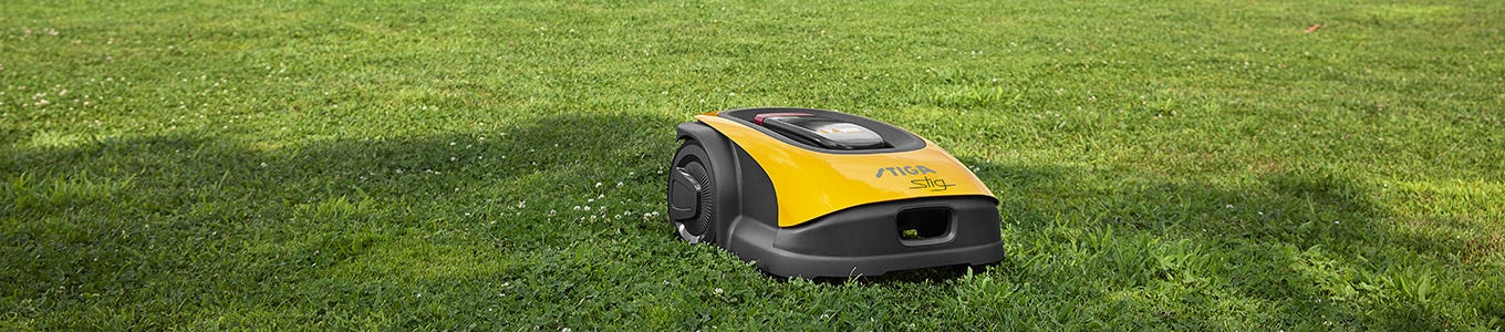 Cordless robotic lawn mowers