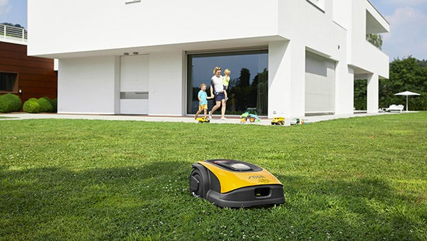 Battery robotic lawn mowers