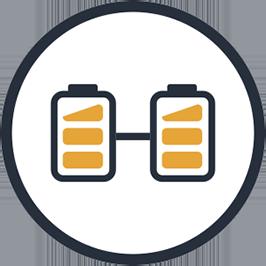 Double battery smart energy usage