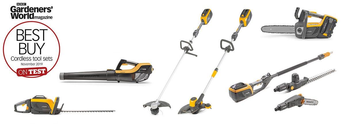 STIGA 500 Series battery system garden tools