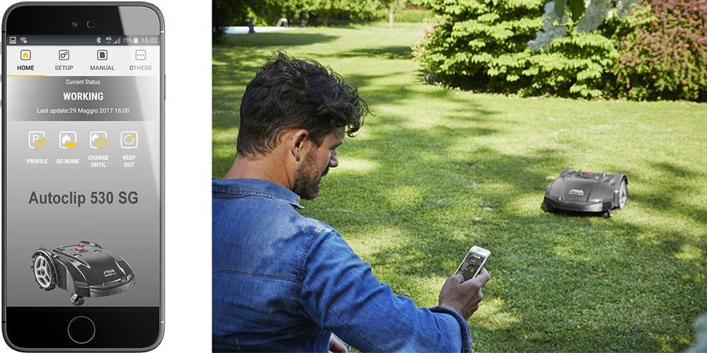 AUTOCLIP tondeuses robots mobile app