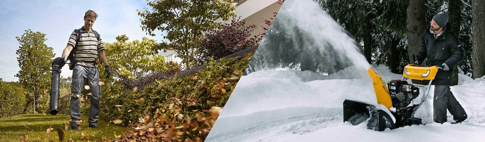 Puutarhanhoito onnistuu myös syksyllä ja talvella STIGA-puutarhatyökalujen ansiosta