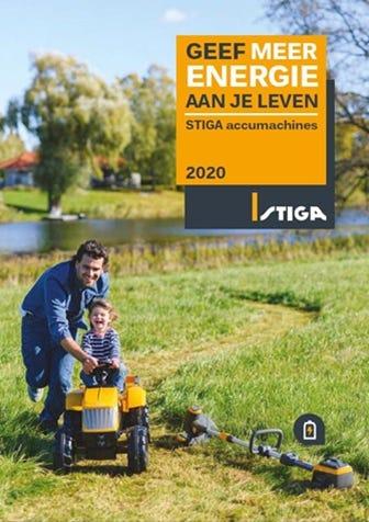 STIGA batterij brochure 2020 accumachines België