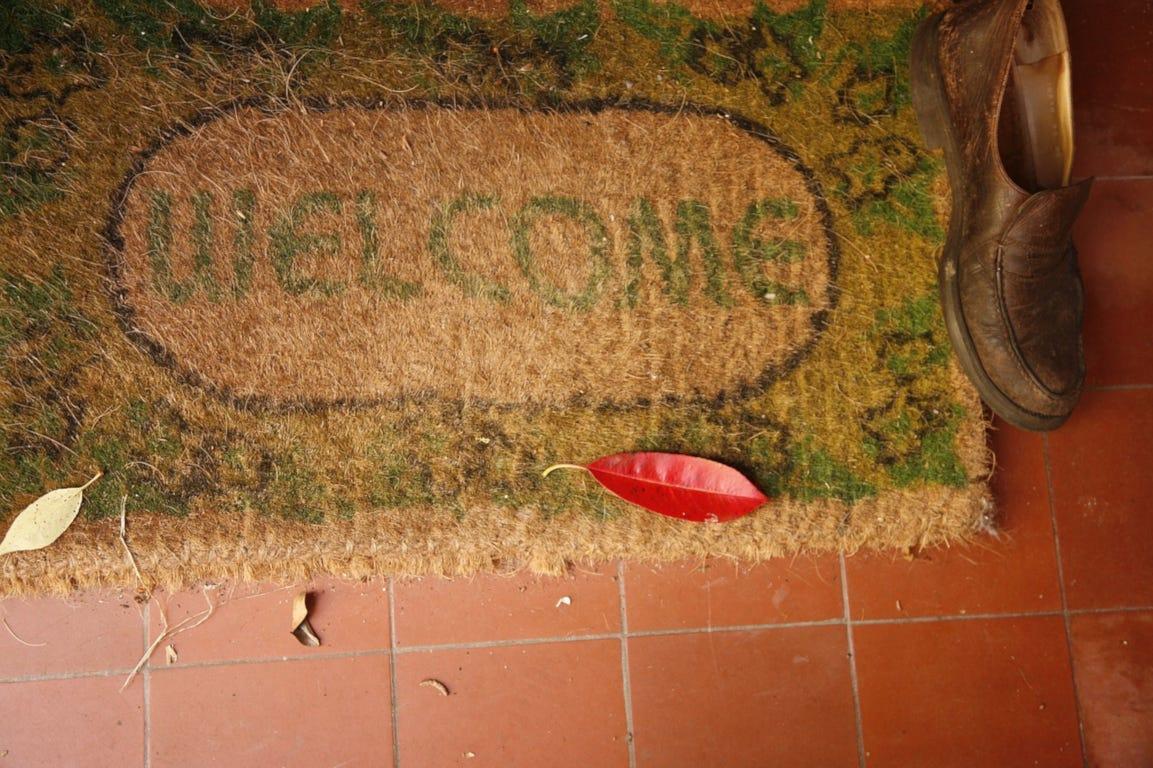 deurmat welkom inkom huis mat