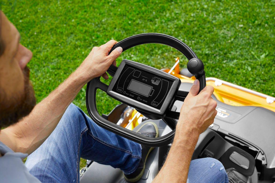 e-park 220 stiga conduite pour tondre la pelouse