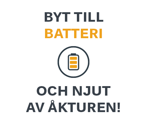 Switch to battery, enjoy the ride!