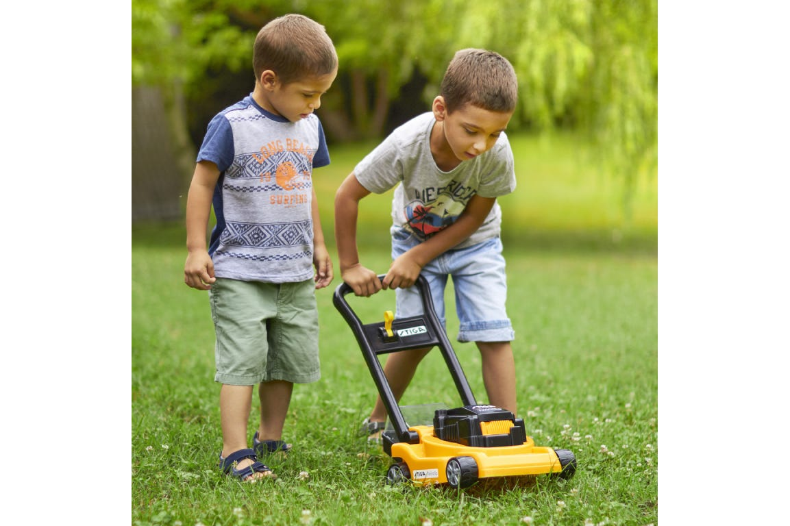 gardening with STIGA toy mower
