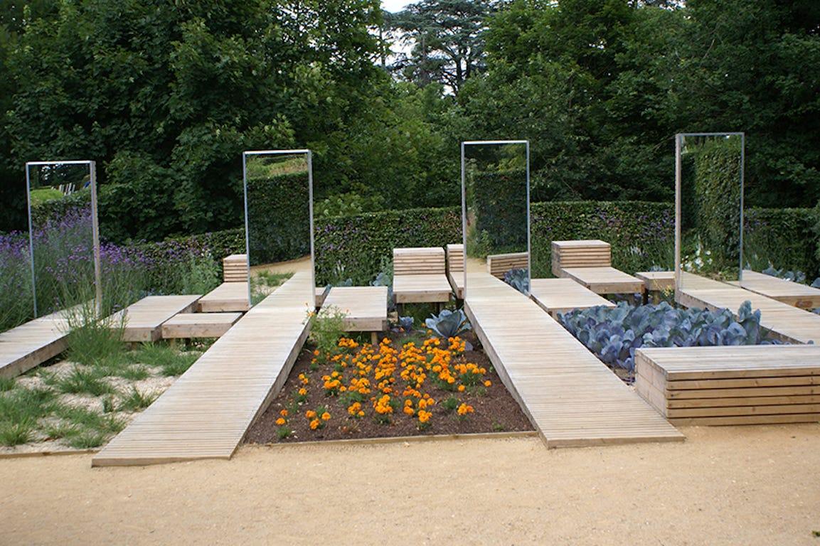 Jardin miroir Chaumont