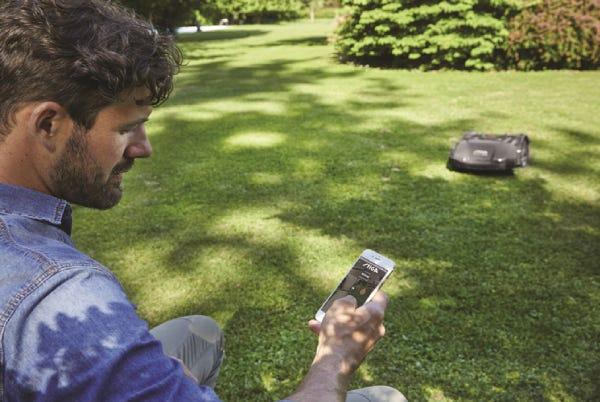 STIGA robotmaaier te bedienen vanaf de smartphone app