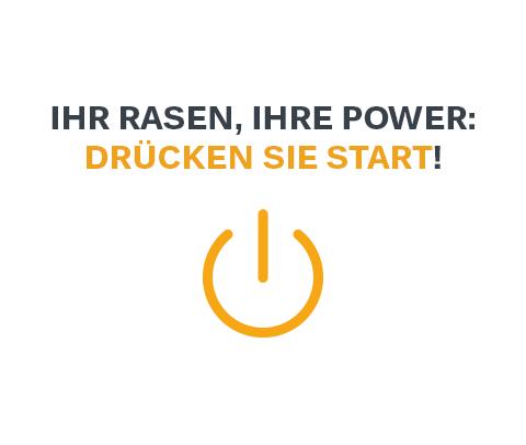 Ihr Rasen, Ihre Power: drücken Sie start!