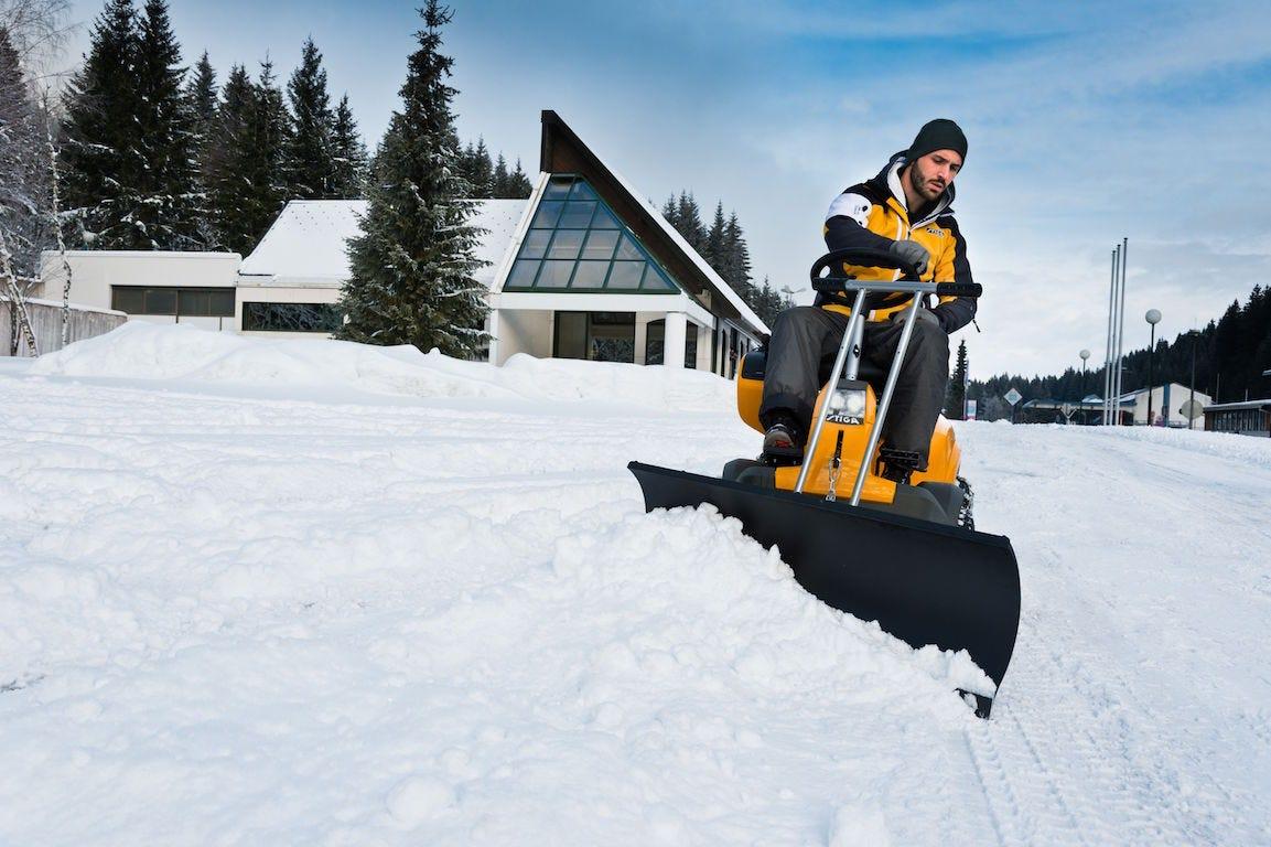 Stiga Park 540 DPX snow blade entretien neige