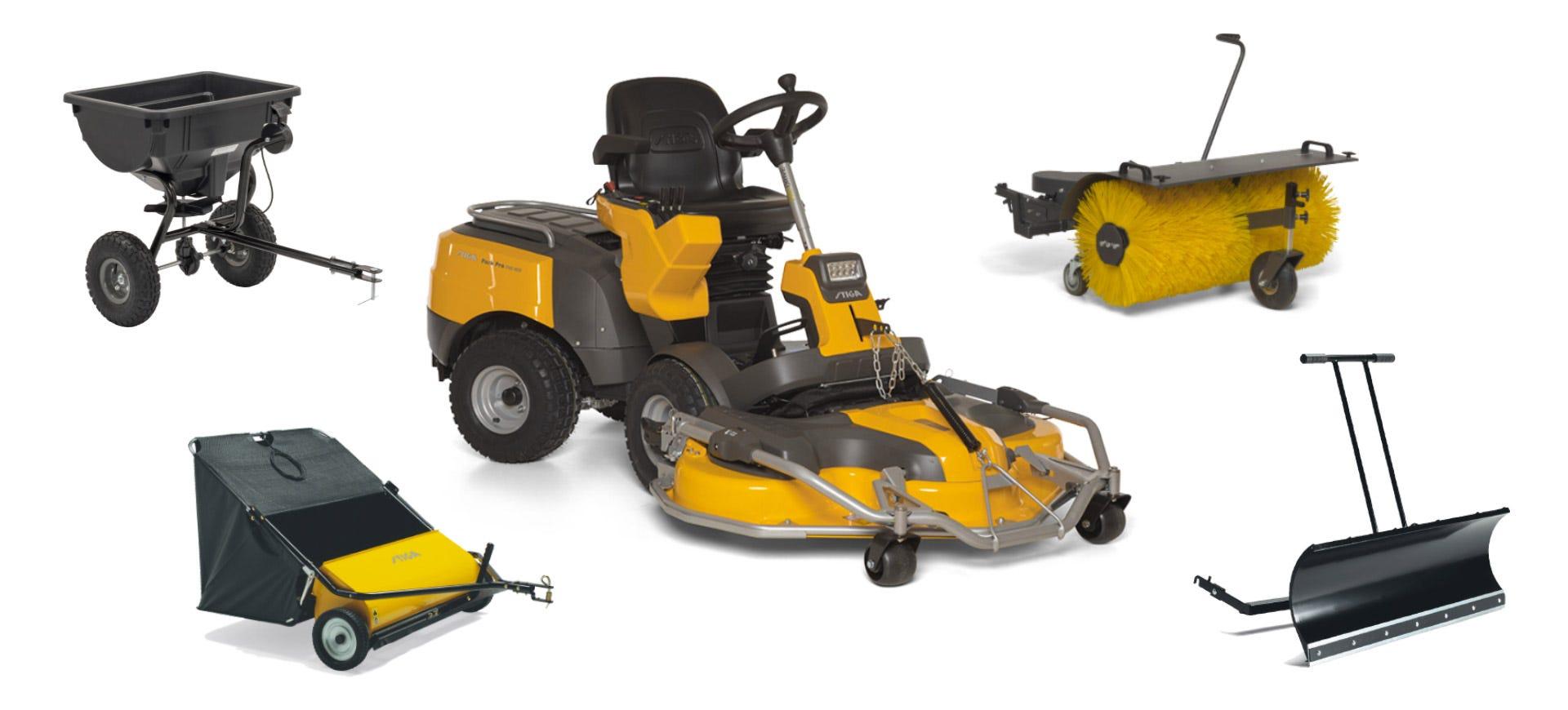 stiga front mower accessories