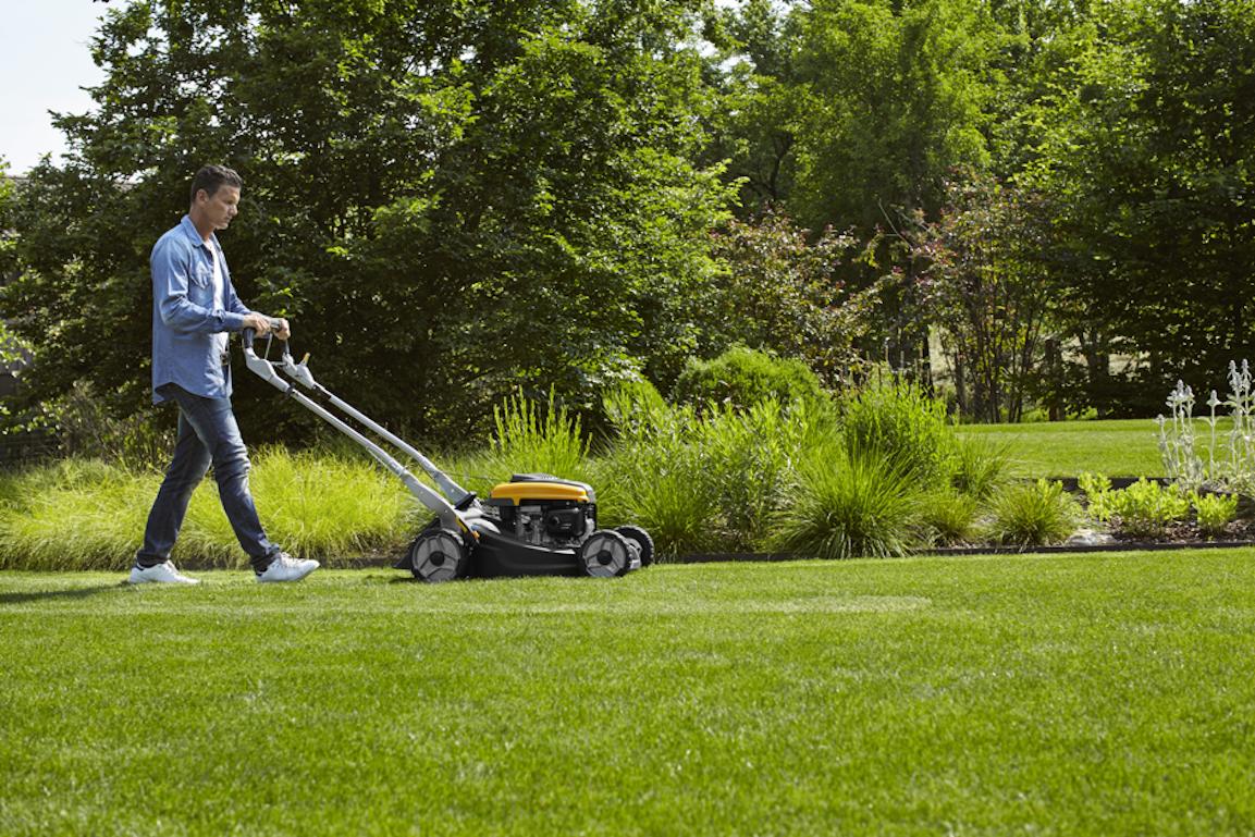 Une tondeuse disposant de la fonction de tonte mulching comme la Twinclip 50 SV H, peut vous aider à garder votre gazon sain.