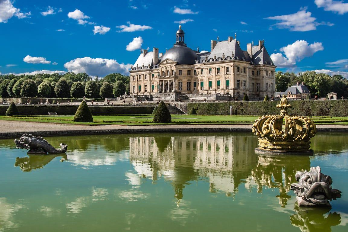 Vaux-le-Victomte points d'eau jardin à la française