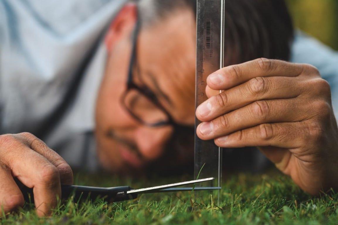 gazon maaien gras te kort knippen maaihoogte