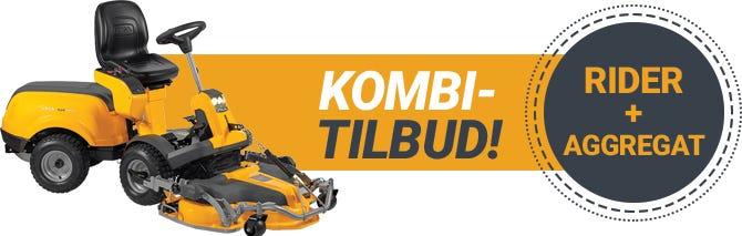 STIGA Frontmonterede ridere | Kombi-tilbud inkl. klippeaggregat