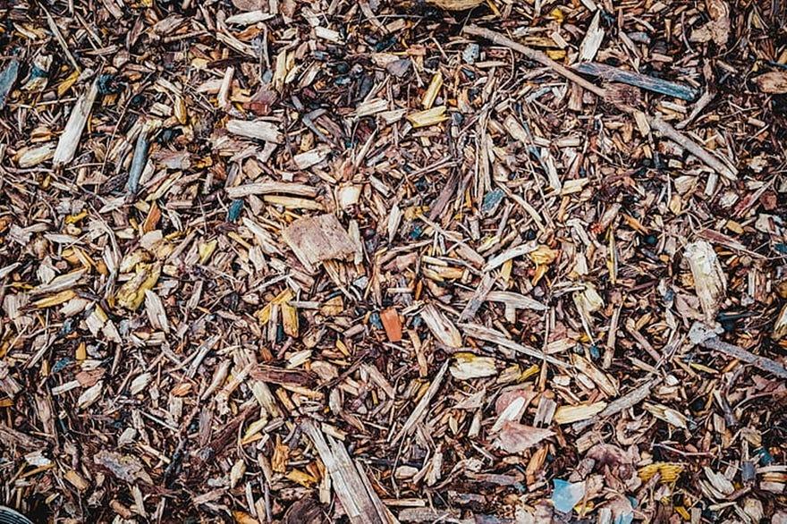 mulch hout snippers en bladeren