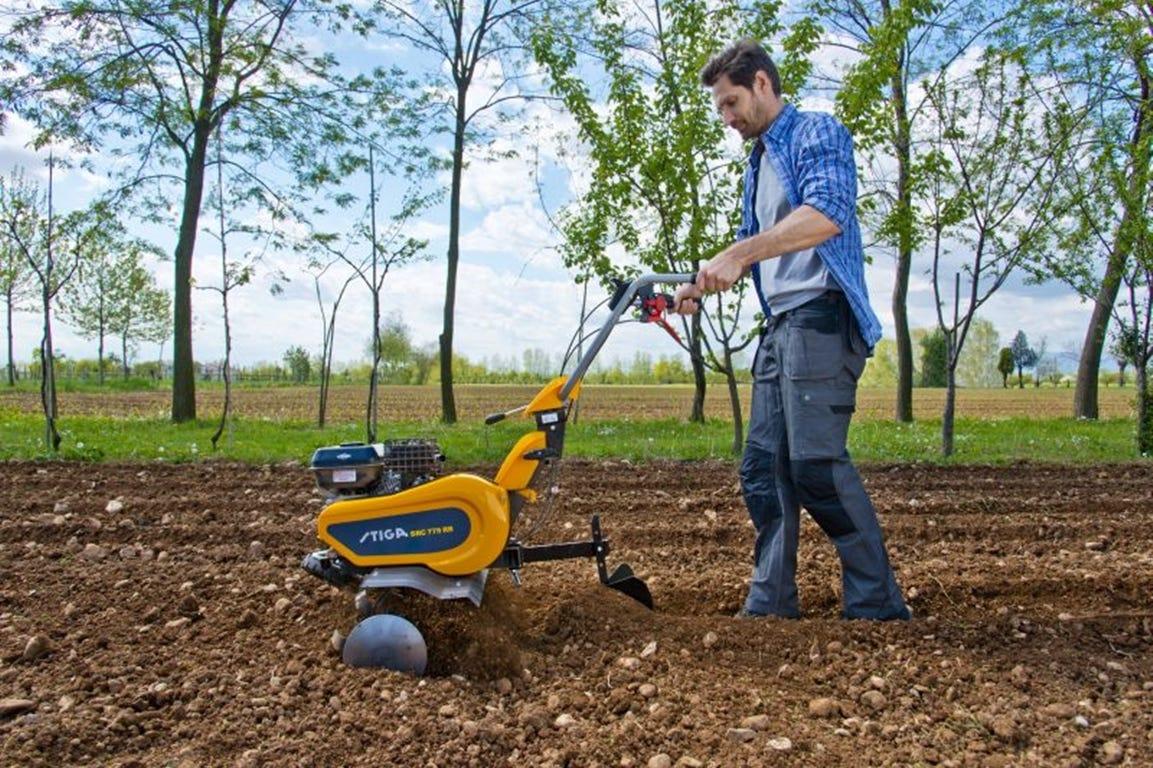 stiga src motorfrees tuinfrees grondfrees onderhoud winter