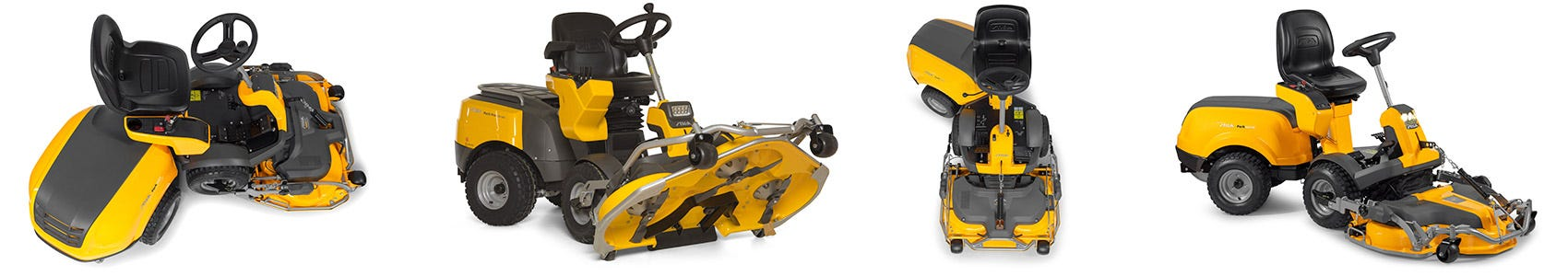 STIGA front mowers are powerful machines, specific for mulching cut