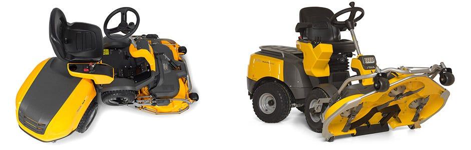 Les tondeuses autoportées à coupe frontale STIGA sont des machines puissanctes, spécialement conçues pour le mulching
