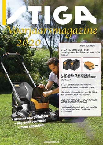 STIGA dealerkrant folder voorjaar 2020 Nederland