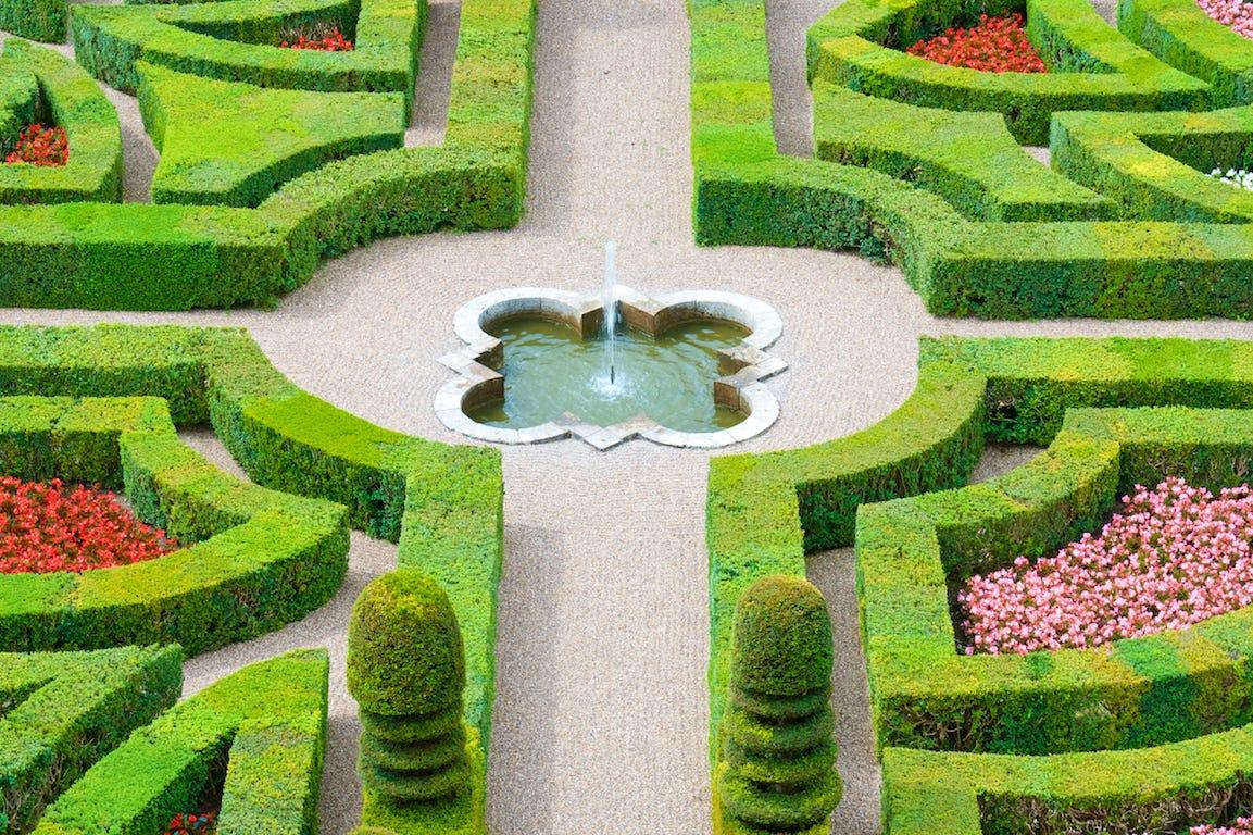 jardin à la française topiaires points d'eau