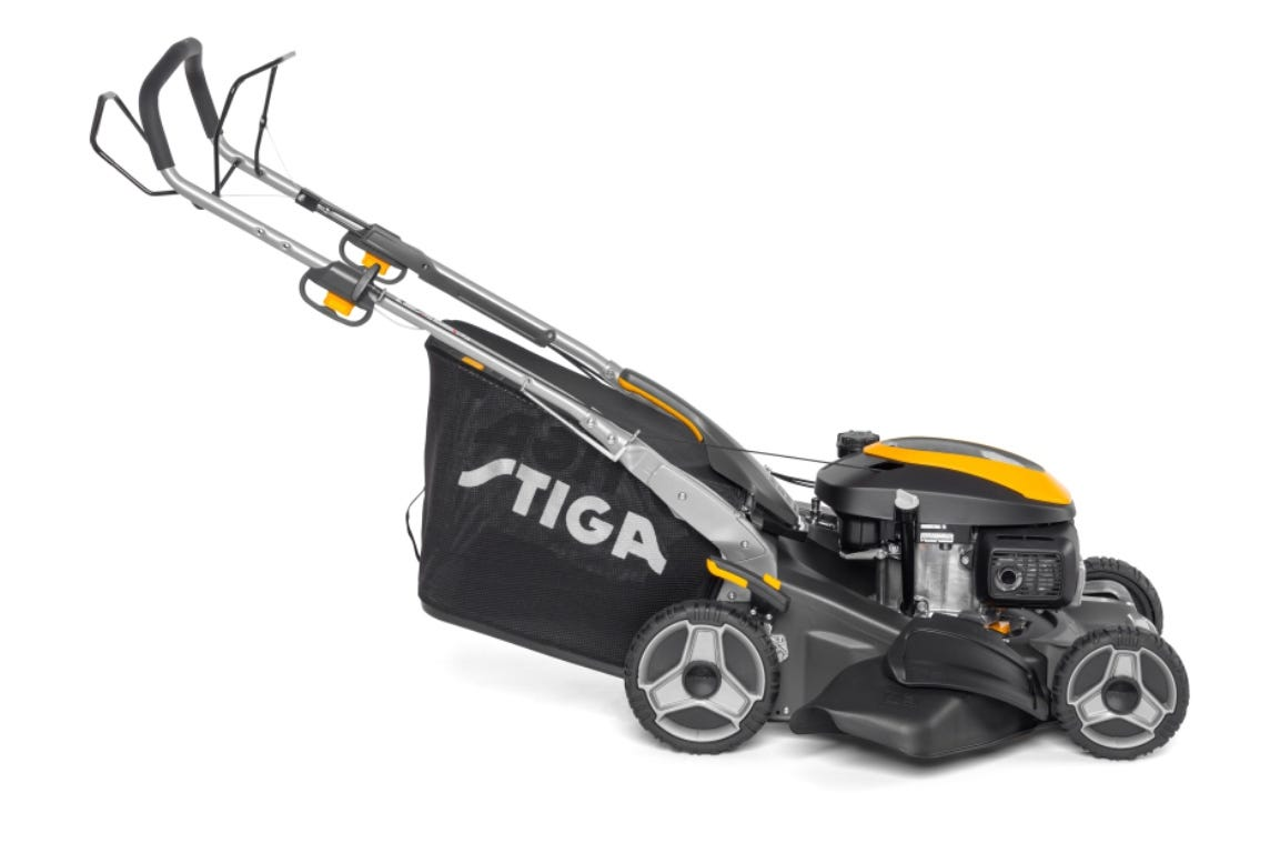 STIGA Twinclip 50 SQ H petrol powered lawn mower.