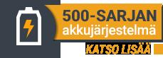 STIGA 500-SARJAN AKKUJÄRJESTELMÄ
