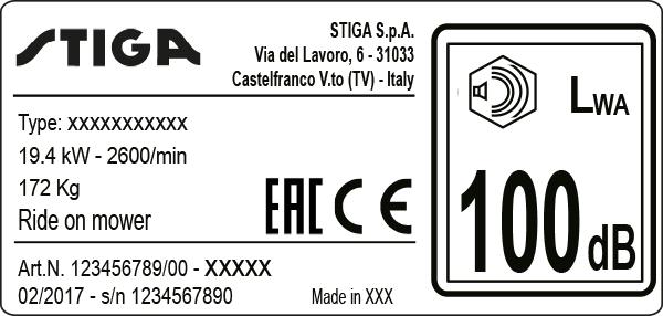 Plaque d'identification